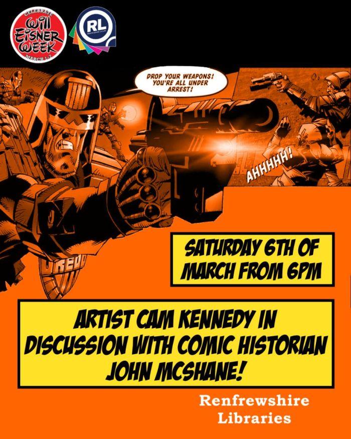 Will Eisner Week 2021 - Renfrewshire Libraries - Cam Kennedy