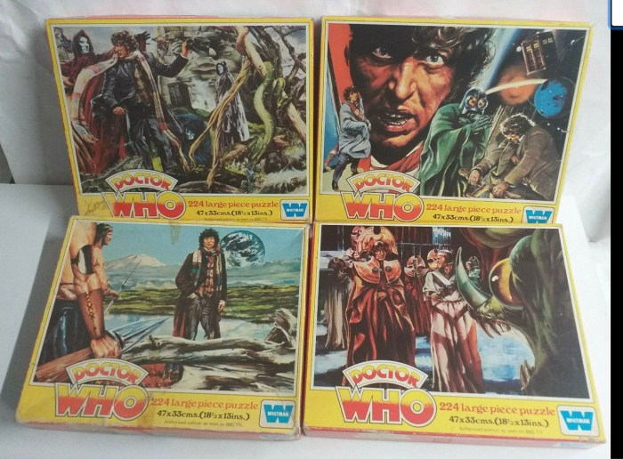 Doctor Who jigsaw puzzles produced by Whitman. Via eBay