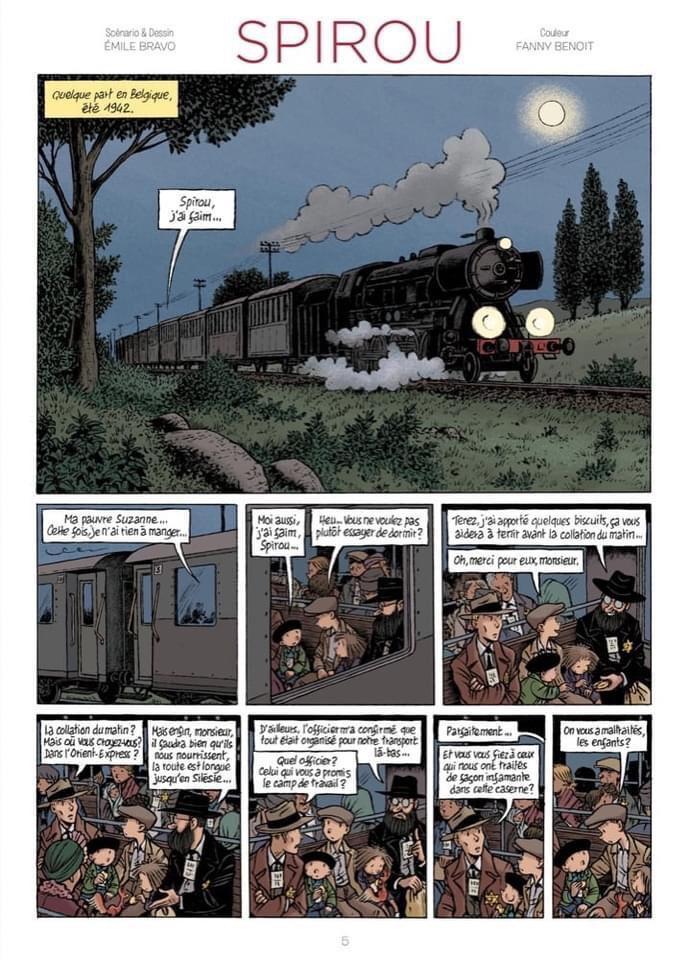Spirou No. 4321 - Hope September Everything - strip by Émile Bravo