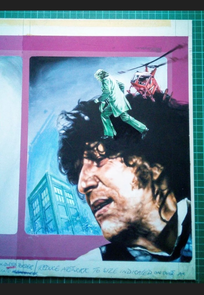 Doctor Who Annual 1978 cover art by Paul Crompton  - Detail