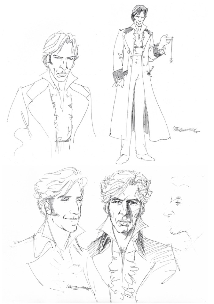 Initial designs for the new Doctor by Lee Sullivan