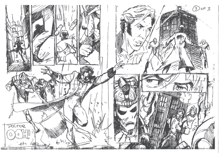 Rough layout of strip. Still using the 1st version 1 of the new Doctor