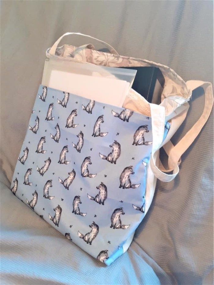 Shabby Fox Tote Bag created by Elizabeth Parker