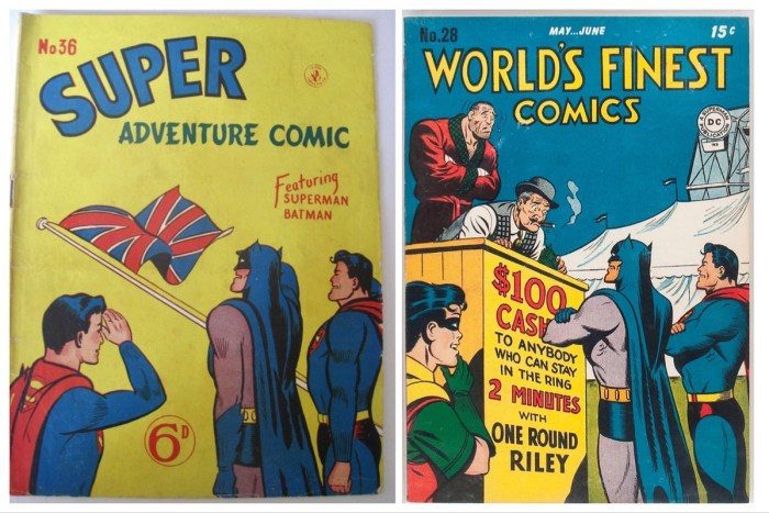 KG Murray's Super Adventure Comic 36, clearly based on the cover of DC Comics World's Finest #28