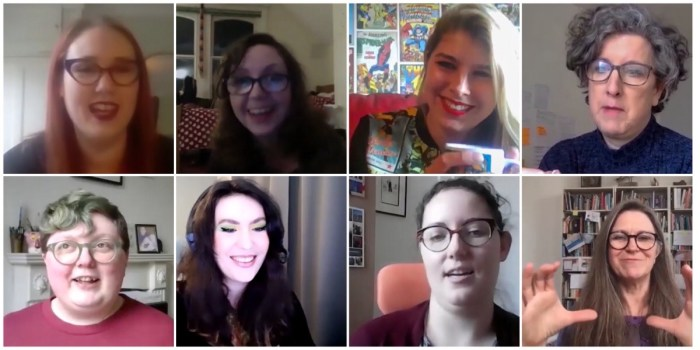Some of the comic creators who feature in the new Creating Women interview series