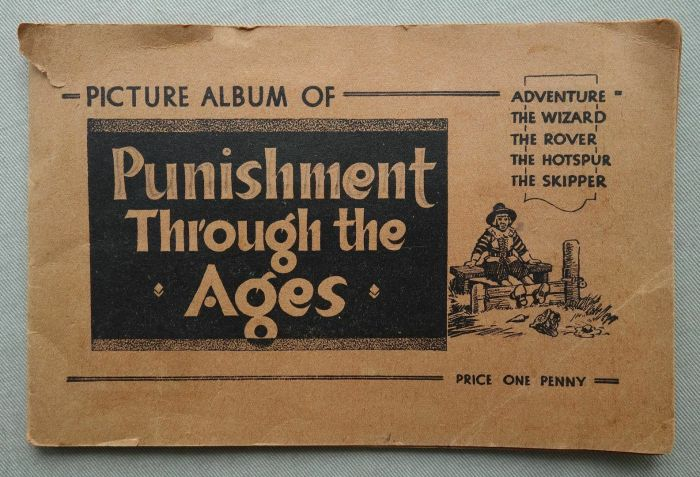 """Hotspur, Skipper, Rover, Wizard Free Gift from the 1930s - the """"Punishment Book"""""""