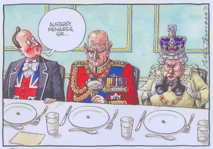 Cartoon by Peter Brookes. Courtesy of The Cartoon Museum