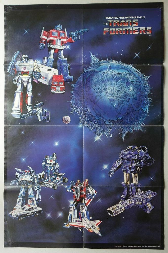Transformers comic Free Gift Poster 1985