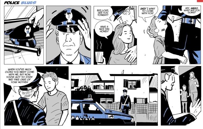 """Police Blues"""" by and © Marcello Bondi and Davide Locuratolo, and Federico Zilli"""