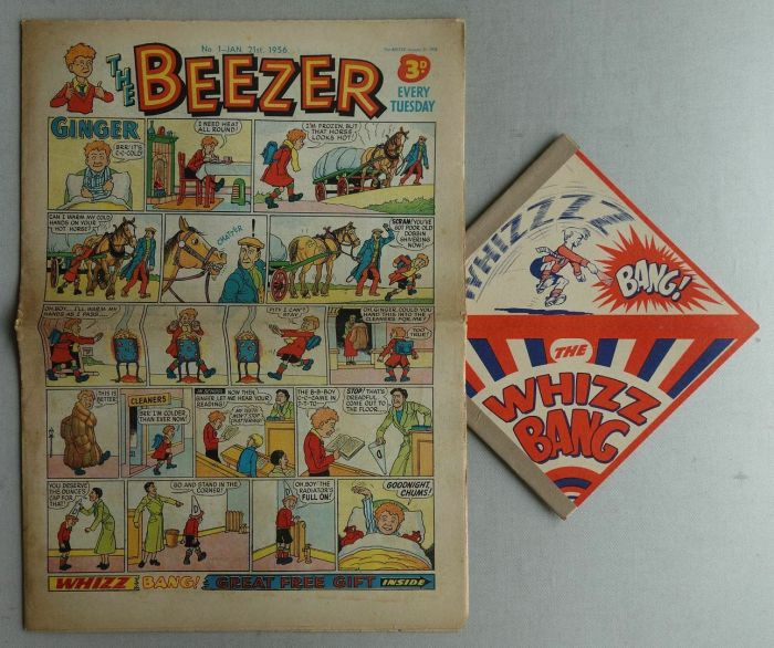 Beezer No. 1, cover dated 21st January 1956, with free gift