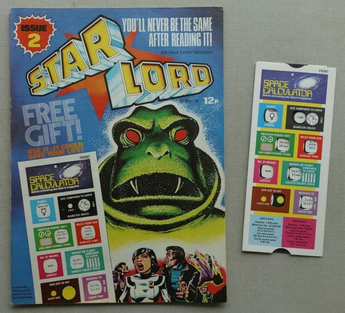 Starlord No.2, cover dated 20th May 1978, with free gift