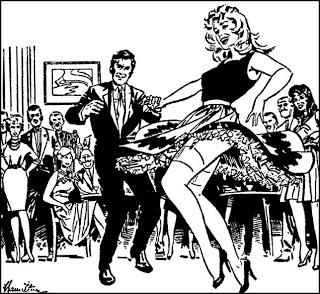"A panel from the newspaper strip ""I'm Patti"", drawn by Rab Hamilton as Bob Hamilton"
