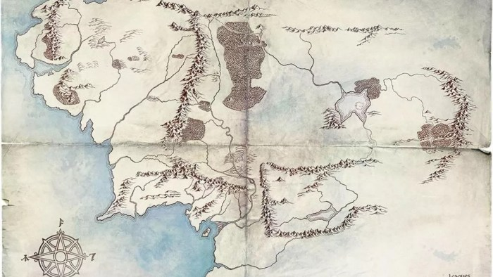 Lord of the Rigns Middle-Earth Map