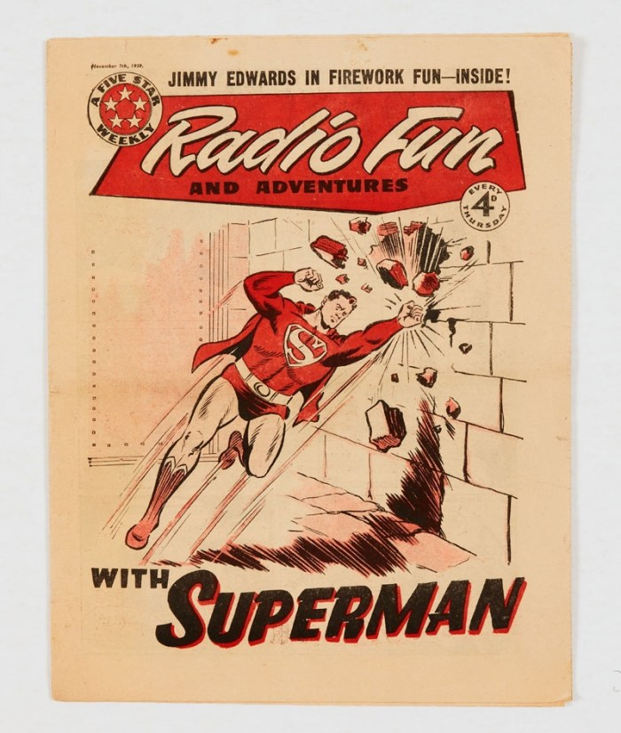 Radio Fun (Nov 7 1959) Fireworks issue with Superman cover and Superman vs Metallo illustrated story