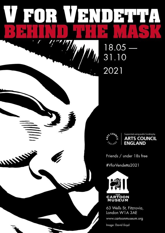 "V for Vendetta: Behind the Mask"" exhibition Poster 2021"