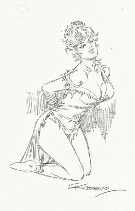 "Original ""Modesty Blaise"" art by Enric Badia Romero"