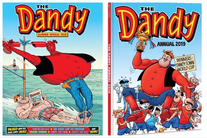 Dandy Annuals, 2018 and 2019 - cover art by Ken H. Harrison