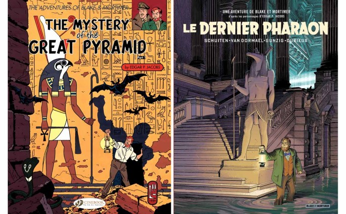 Le Dernier Pharaon, co-written by Thomas Gunzig and Jaco Van Dormael, drawn by François Schuiten and coloured by Laurent Durieux