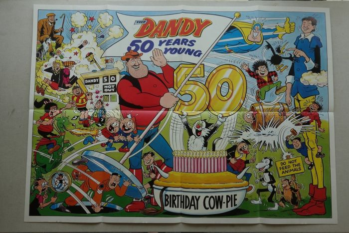 Dandy No. 2402, cover dated 5th December 1987 - 50th Birthday Poster