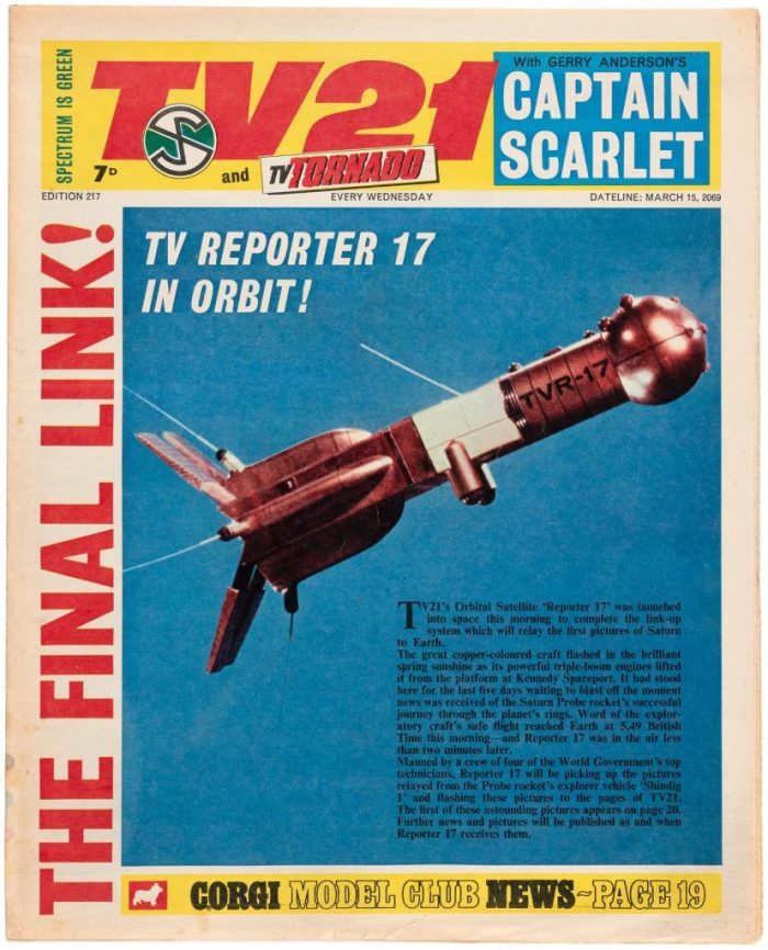 TV21 and Tornado cover dated 15th March 1969