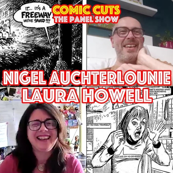 Kev F. Sutherland's Comic Cuts Podcast - Nigel Auchterlounie and Laura Howell