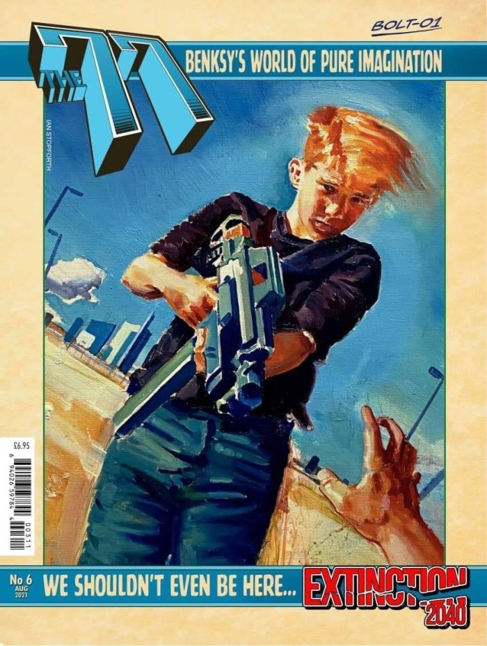 """The77 Issue 6 - Newsstand edition featuring """"Extinction 2040"""" by Ian Stopforth"""