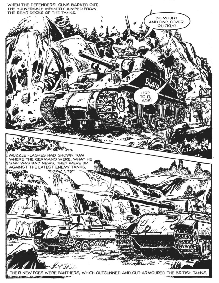 A page from Commando 5448 - Gold Collection: Die — or Walk!