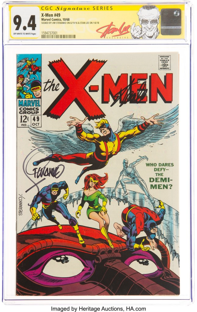 X-Men #49 Signature Series, graded CGC NM 9.4 and signed by Stan Lee and Jim Steranko