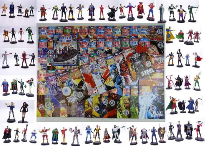DC COMICS SUPER HERO COLLECTION: 1-75 - Includes Issues #1-75 of the Eaglemoss magazine with the matching hand painted, lead figures (unboxed) (75 figures and 75 magazines in lot)