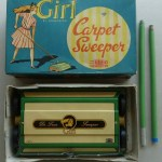 Girl comic Carpet Sweeper 1950s/1960s Mettoy Playthings in box