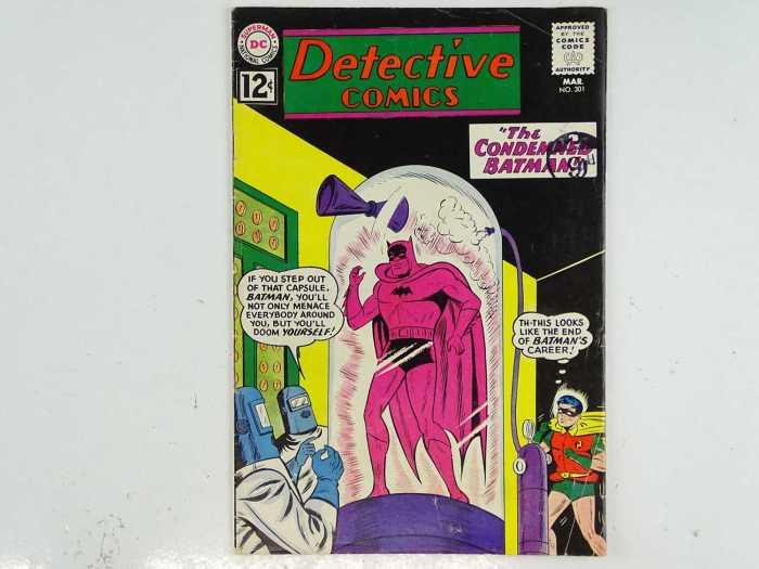 DETECTIVE COMICS #301 - (1962 - DC - UK Cover Price) - J'onn J'onzz returns to Mars + Batman cover by Sheldon Moldoff with interior art by Moldoff and Joe Certa