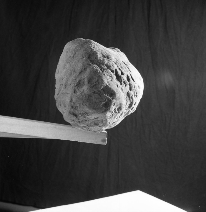 A model of an asteroid - Julian is not sure if this was for Eagle, but Ian Kennedy certainly appears to have used it for reference