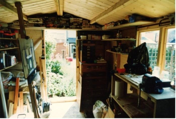 FX designer Julian Baum's studio in the 1980s - a big shed