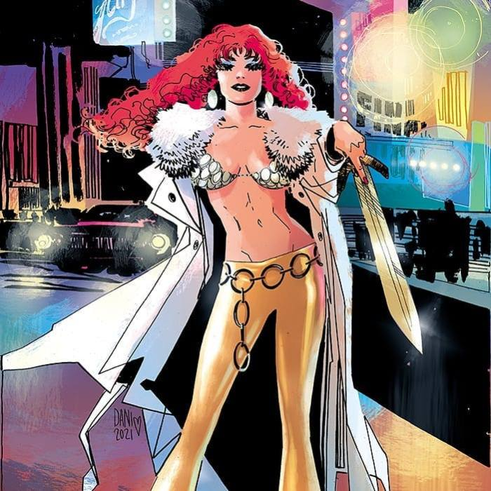 A Red Sonja cover for Dynamite Entertainment by DaNi and Brad Simpson
