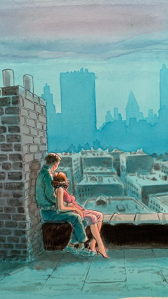 Art for the cover of Will Eisner's New York: The Big City