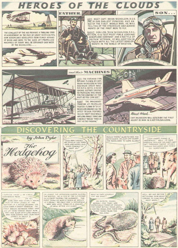 """Eagle Volume One Issue One - """"Heroes of the Clouds"""" and """"Discovering the Countryside"""""""