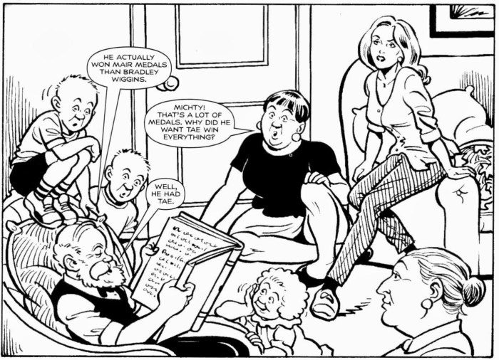 """A panel from """"The Broons"""" by Ken Harrison. With thanks to Peter Gray"""