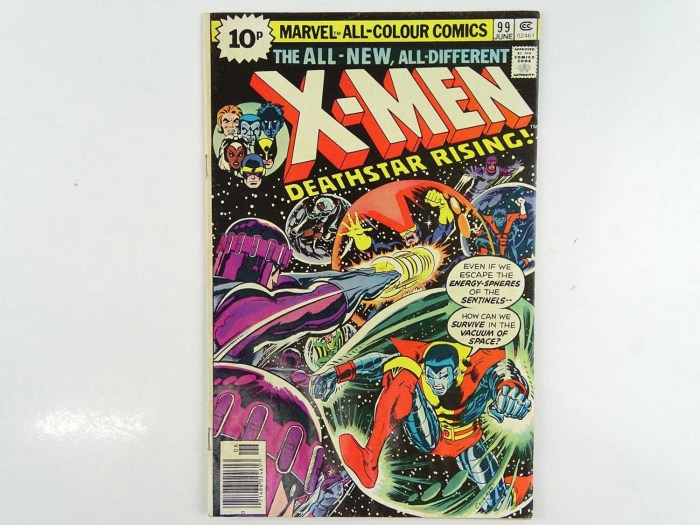 UNCANNY X-MEN #99 - (1976 - MARVEL - UK Price Variant) - First appearance of Black Tom Cassidy + Sentinels appearance - Dave Cockrum cover and interior art