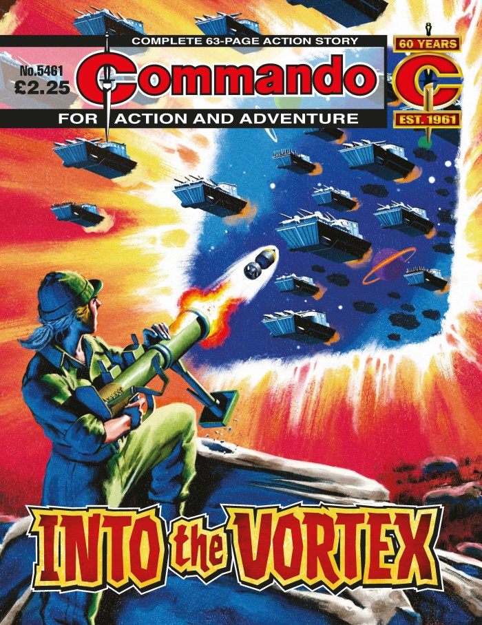 Commando 5461: Action and Adventure - Into the Vortex - cover by Neil Roberts