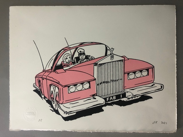 Gerry Anderson Limited Edition Print by john Patrick Reynolds - FAB 1