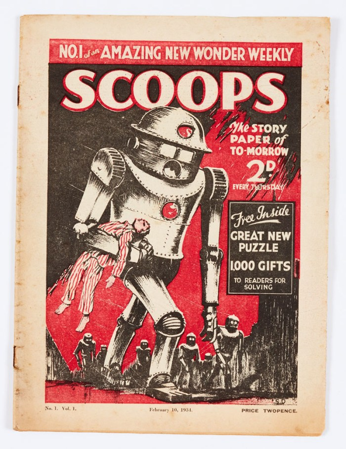 """Scoops No 1 (1934) """"The UK's first Science Fiction Weekly"""""""