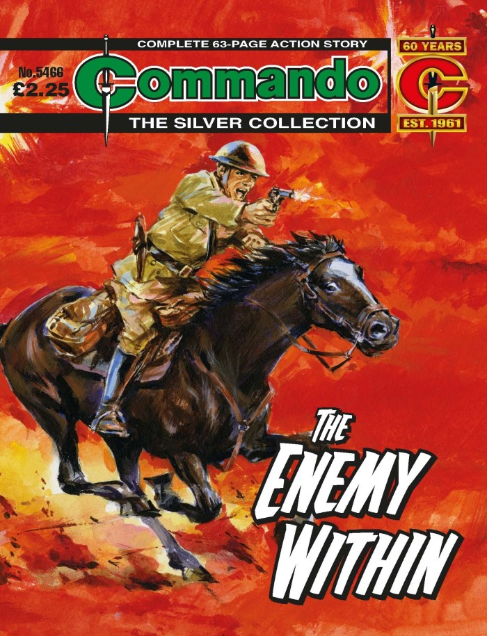 Commando #5466: The Enemy Within - cover by Ron Brown
