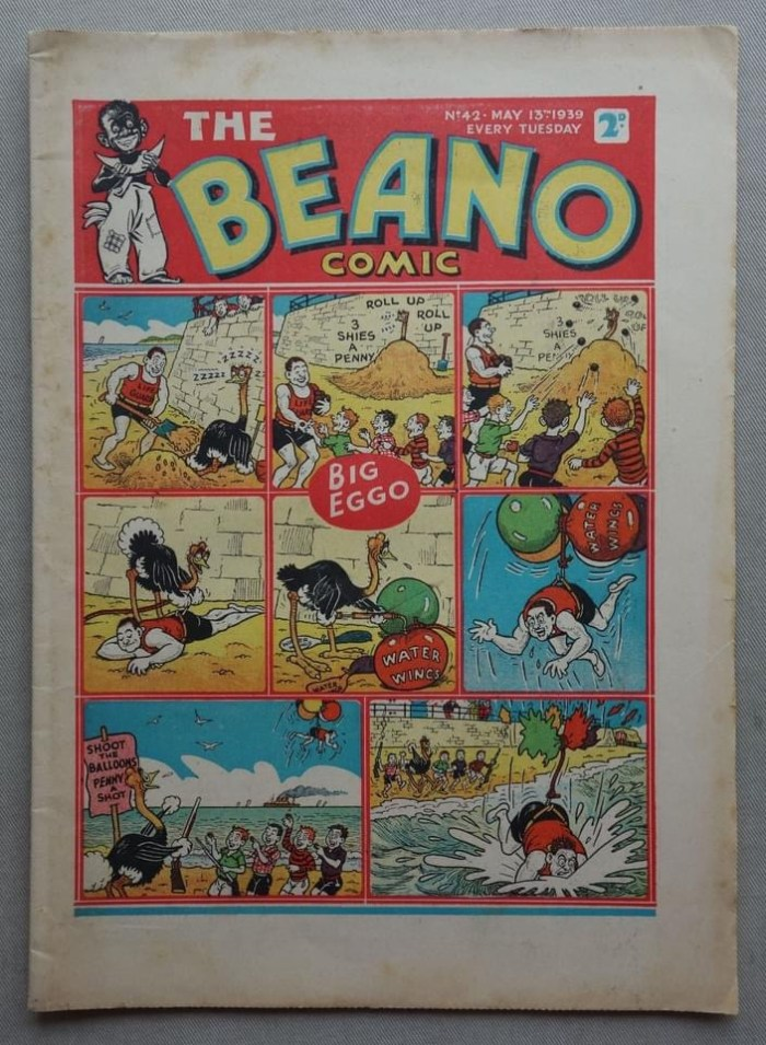 The Beano No. 42 cover dated 13th May 1939