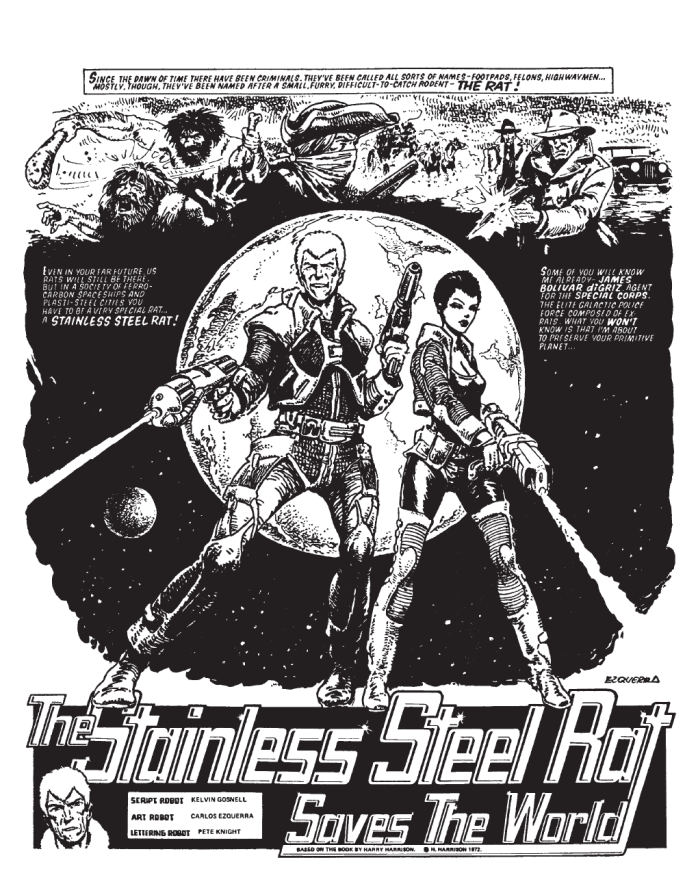 """2000AD - """"The Stainless Steel Rat"""" - art by Carlos Ezquerra"""
