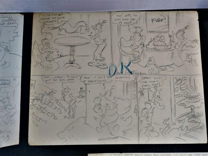 "Funny Wonder - ""Marmaduke and His Ma"", pencils drawn by Wally Robertson"
