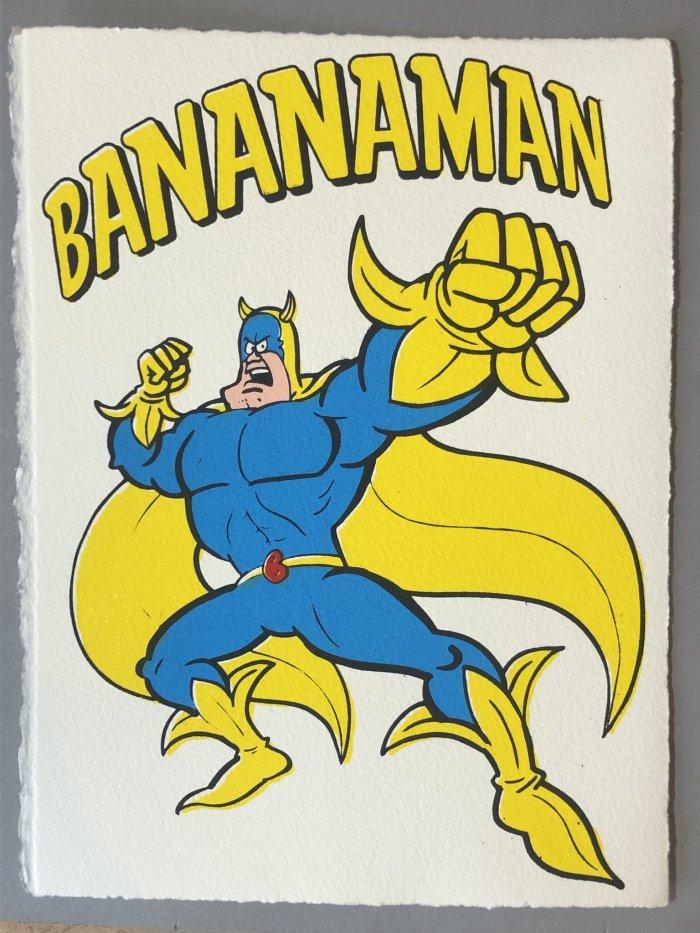 Bananaman Screen Print by John Patrick Reynolds
