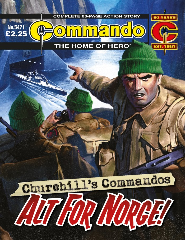 Commando 5471: Home of Heroes - Churchill's Commandos: Alt For Norge! - cover by Neil Roberts