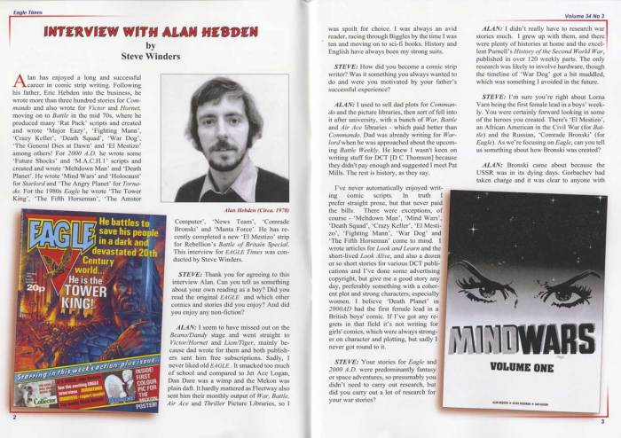 Eagle Times Volume 34 Number Three (2021) - Alan Hebden Interview
