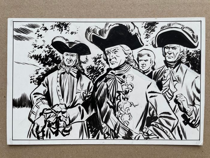 """""""Mousquetaires """" (The Three Musketeers) by Fred Funcken"""