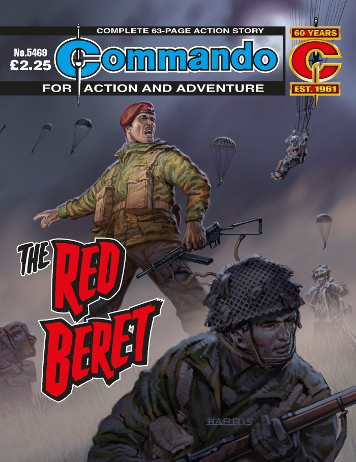 Commando 5469: Action and Adventure - The Red Beret - cover by Mark Harris